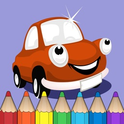 Coloring Book of Cars for Children: Racing car, bus, truck, vehicle, ...