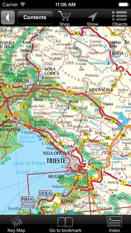 Slovenia, Croatia. Road map.