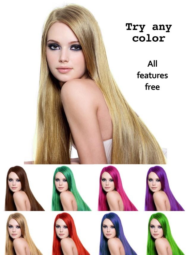 application iphone pour changer la couleur de cheveux coiffures populaires. Black Bedroom Furniture Sets. Home Design Ideas