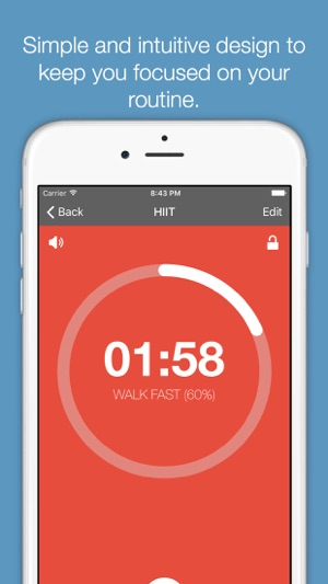 Timerly - Interval Timer for HIIT, Workouts, Tabata, and more! Screenshot