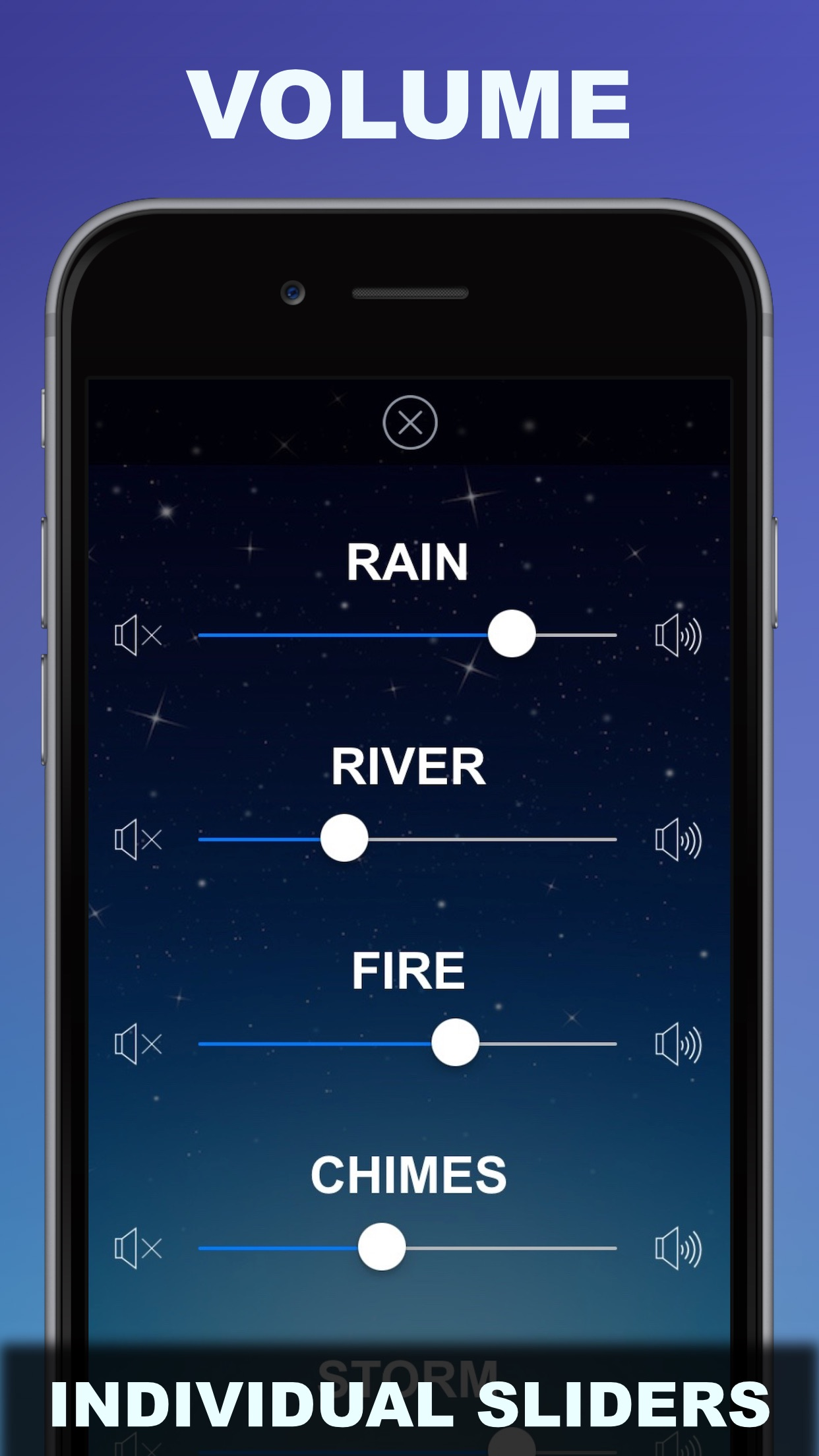 Sleep Sounds : Relaxing White Noise and Ambient Music Screenshot
