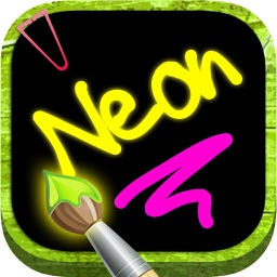 Draw with neon tube colors on screen and create notes
