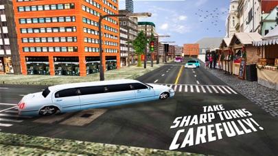 高級リムジンタクシーの都市車の駆動3Dのおすすめ画像4