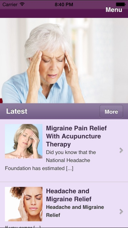 Migraine Headache - Learn How To Ease Your Pain screenshot-2