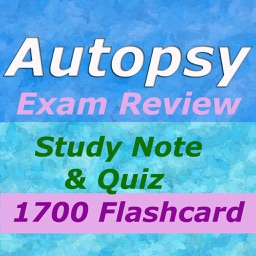 Autopsy Study Note & Exam Review 1700 Flashcard Note &Quiz
