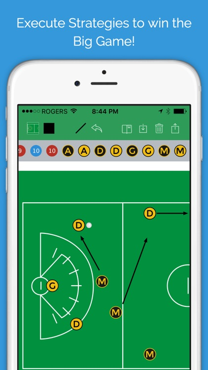 Lacrosse Blueprint - Men's Clipboard Drawing tool for Coaches