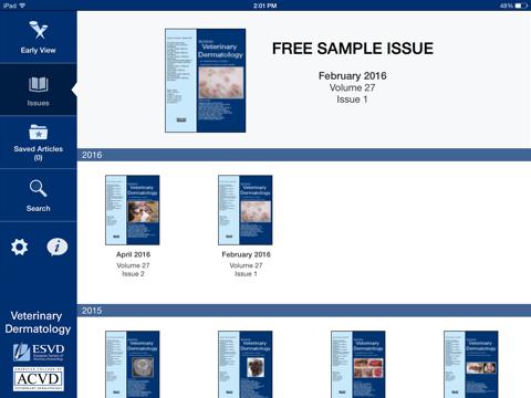 Screenshot of Veterinary Dermatology