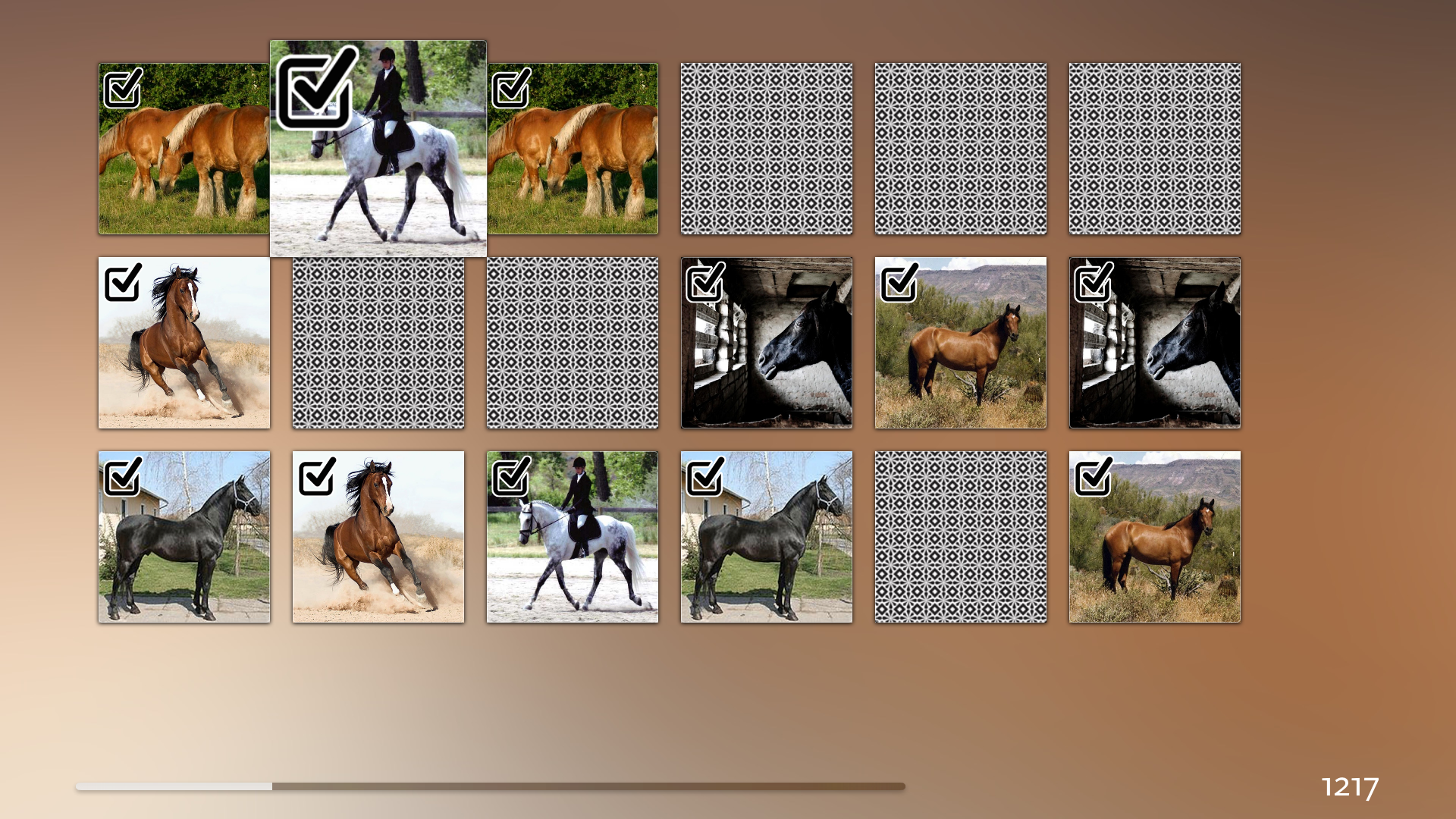 Horse Matching Puzzle screenshot 1