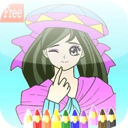 Fairy Princess Coloring Book Album For Kids