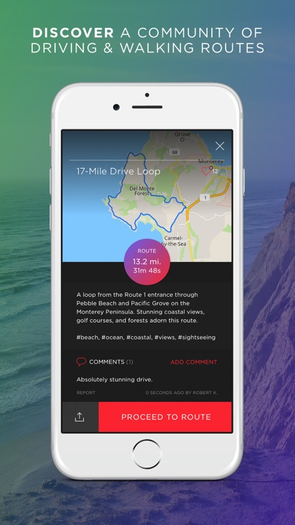 Round - Navigation for Scenic Routes, GPS Drive & Walk Tracker screenshot-1