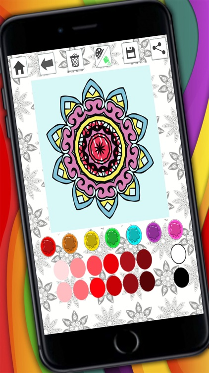 Mandalas coloring pages for adults - Premium screenshot-4