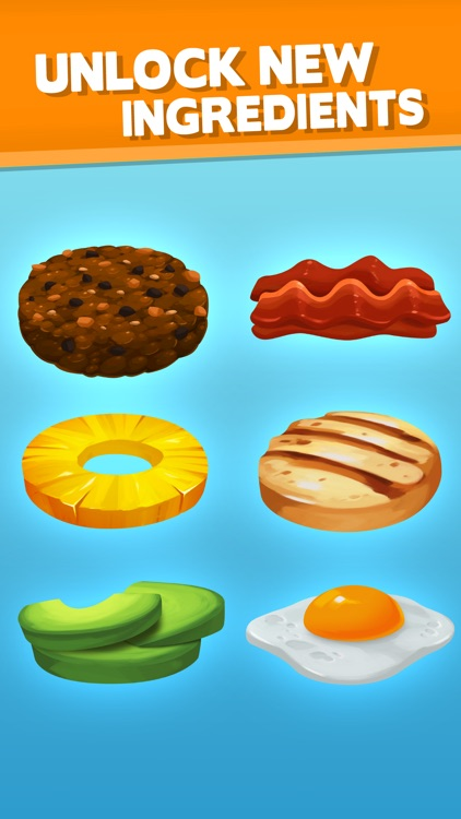 Sky Burger - Build & Match Food Free screenshot-3
