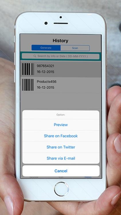 Barcode Reader For:Generate & Scan  All QR/Barcode screenshot-4