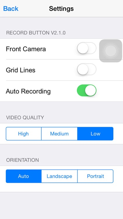 Record Button+: One Touch Video Capture