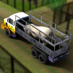 Wild Animal Transporter Truck Simulator: Real Zoo and Farm animals transport game