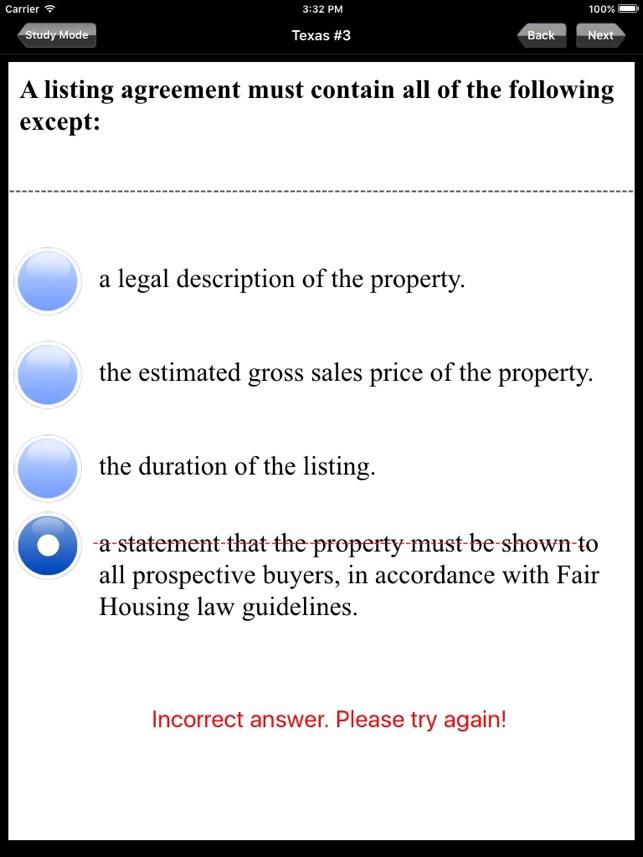 Texas Real Estate Salesperson Agent Broker Exam Prep On The App