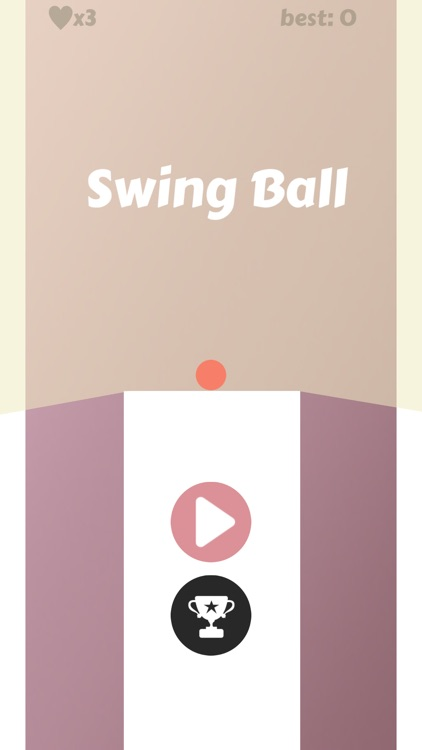 Swing Ball:The white tile can't touch & Abuse of heart