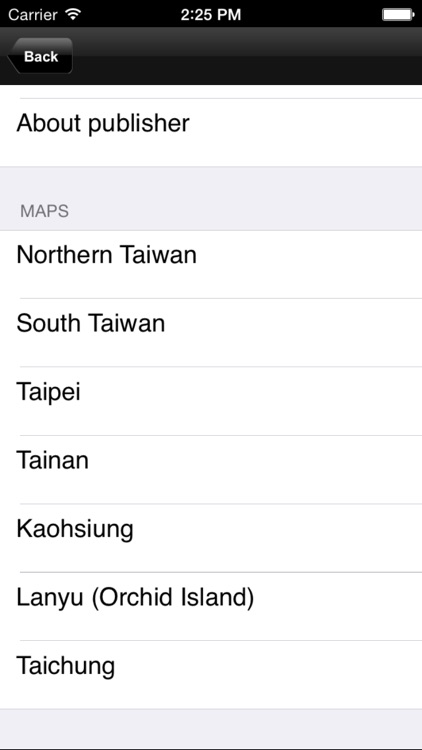 Taiwan. Tourist map.