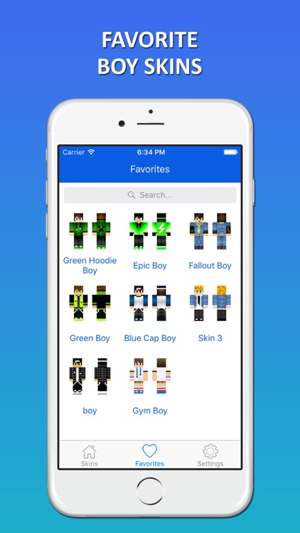 New 3D Boy Skins for 2016 - Skins for Minecraft PE screenshot-3