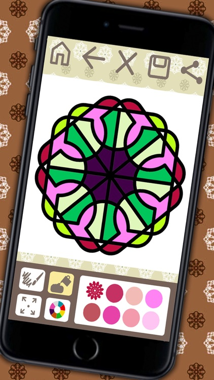 Coloring book Mandalas for adults (relax game of meditation) - Premium