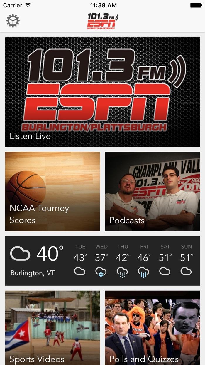 101.3 ESPN Screenshot