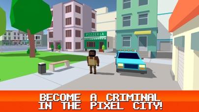 Pixel City: Crime Car Theft Race 3D