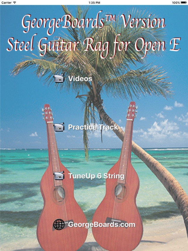 Steel Guitar Rag Open E Version On The App Store