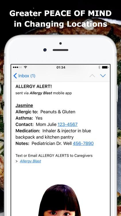 ALLERGY BLAST: Remind All Caregivers screenshot-3