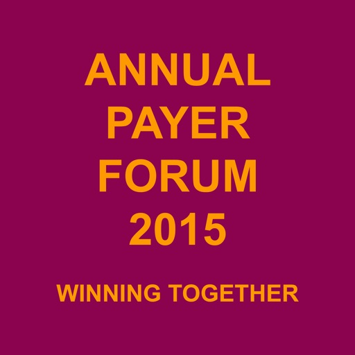 Annual Payer Forum 2015