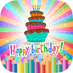 Happy Birthday Coloring Book