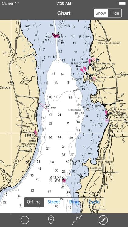 Cayuga-Seneca Lakes (New York) - Raster Nautical Charts