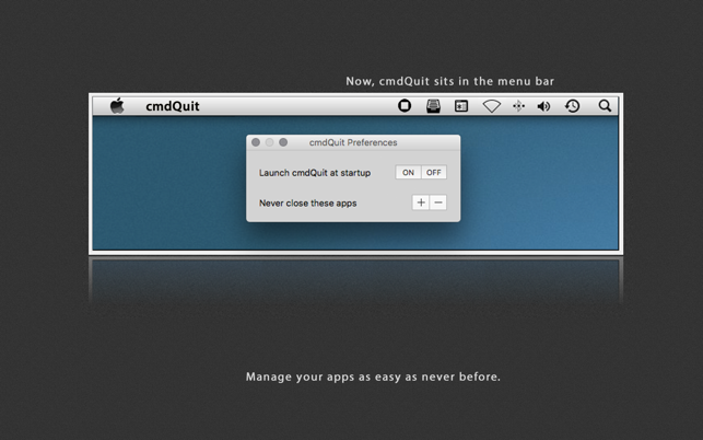cmdQuit Screenshot