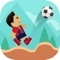 """Play """"Football Jump"""" & juggle the ball as you run on a plain field while not letting the ball touch the ground"""