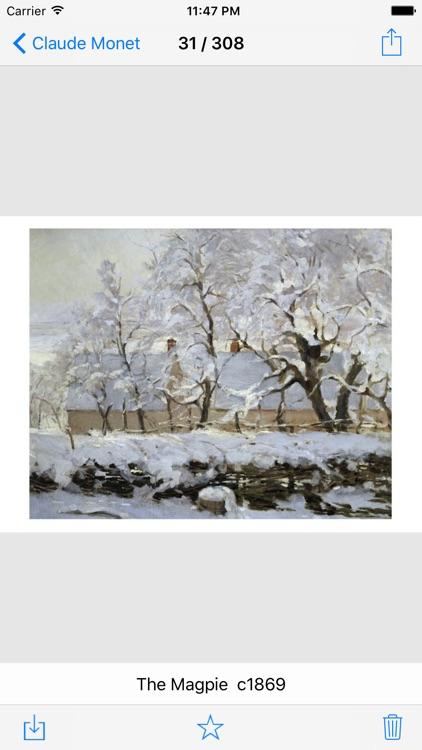Monet 308 Paintings HD screenshot-3