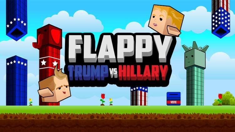 Flappy Donald Trump vs. Hillary Election Run – Face Off Flyer President screenshot-4