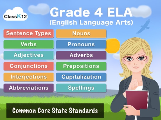 4th Grade Grammar - English grammar exercises fun game by ClassK12 [Lite]のおすすめ画像1