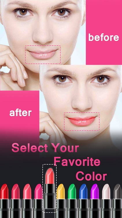 Lip Color Changer - Makeup Booth to Change Lipstick Shades & Got Glossy Lips screenshot-3