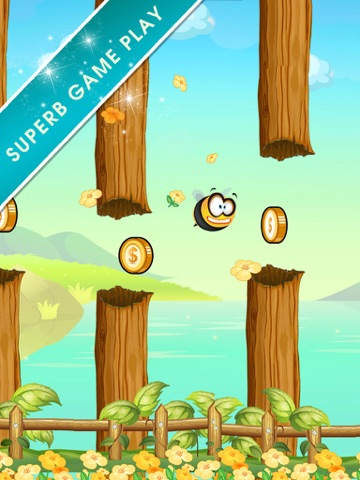 Flappy Bumbee - Honey Bumble Swarm-ipad-1