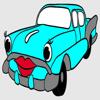 Kids Coloring Book - Cute Small Car Toyama