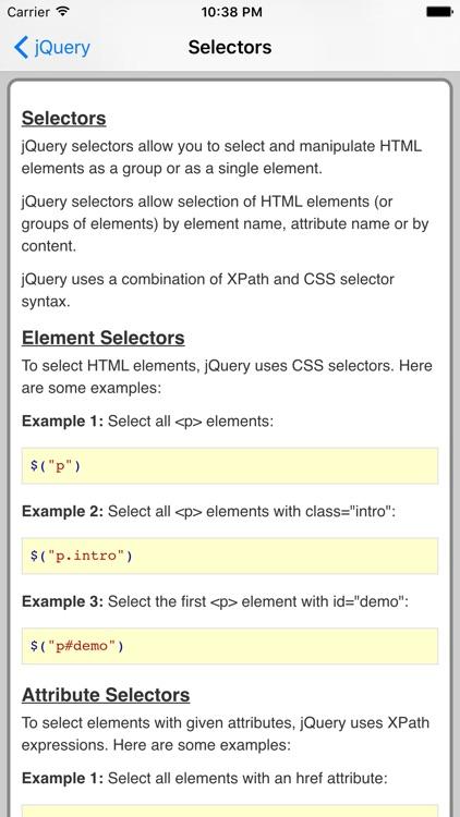 jQuery Pro Quick Guide screenshot-3