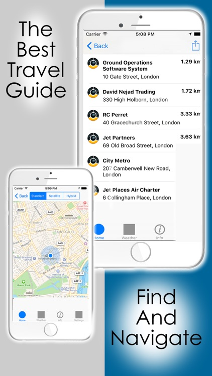 Find what's near me - Nearby places finder with navigation maps (tourist guide for poi , restaurants and hotels)