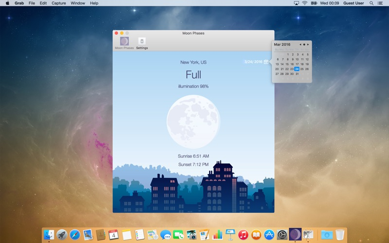 Moon phases på PC