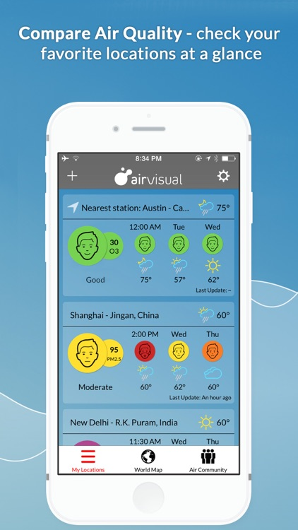 Global Air Quality Monitoring & Pollution Forecast PM2.5 AQI | AirVisual