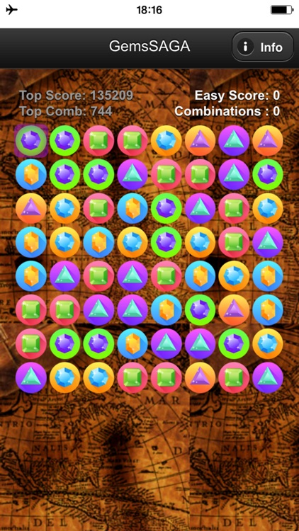 Gems Match SAGA - Game to combine gems or jewels that appear like a torrent screenshot-3