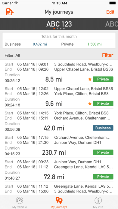 RAC Telematics screenshot three