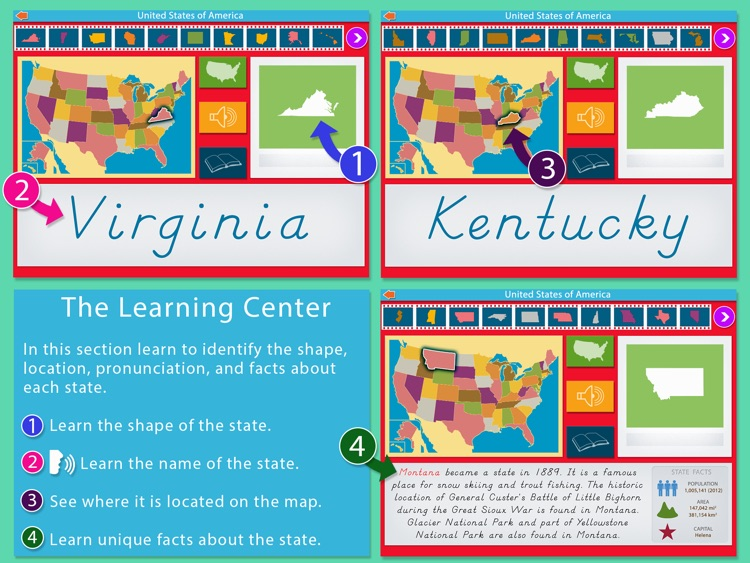 United States Of America LITE - A Montessori Approach To Geography