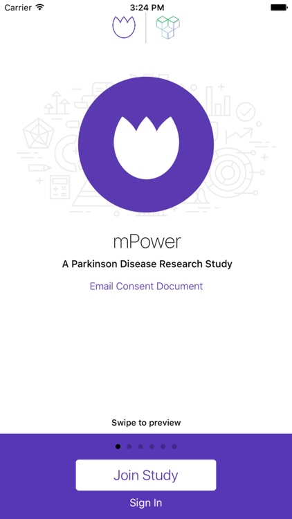 Parkinson mPower study app screenshot-0