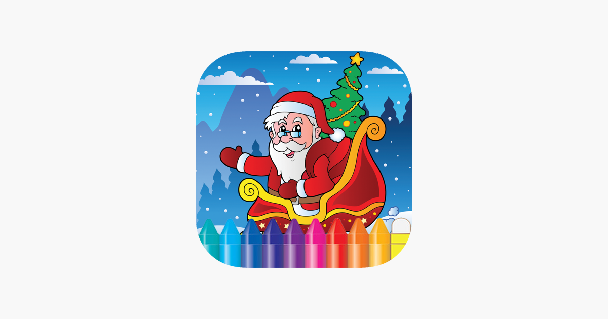 Natal Dan Santa Claus Buku Mewarnai Untuk Anak Di App Store