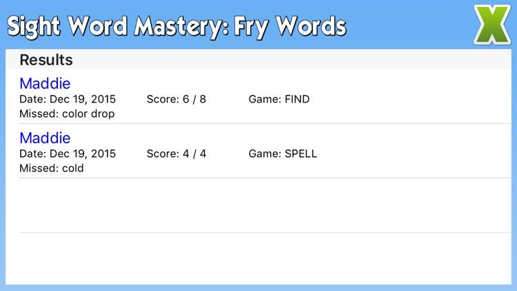 Sight Word Mastery: Fry Words screenshot-3