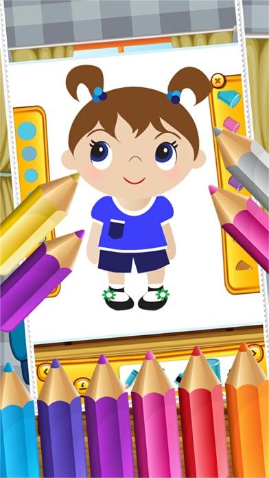 点击获取Little Girls Coloring World Drawing Story Kids Game